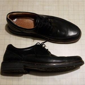Ecco Black Lace Up Dress Shoe Size 47